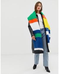 Châle à rayures horizontales multicolore