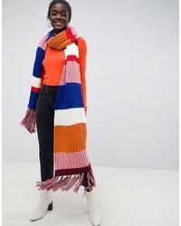 Châle en tricot multicolore ASOS DESIGN
