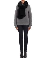 Châle en tricot noir