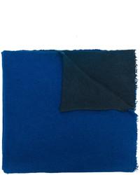 Châle texturé bleu Faliero Sarti