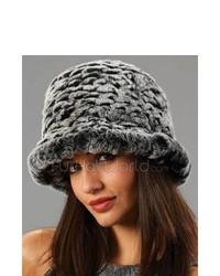 Chapeau de fourrure gris foncé