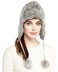 Chapeau de fourrure gris