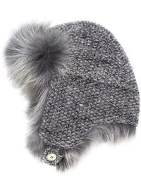 Chapeau de fourrure gris Inverni
