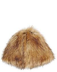 Chapeau de fourrure marron clair