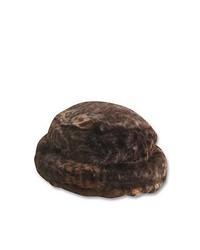 Chapeau de fourrure marron foncé