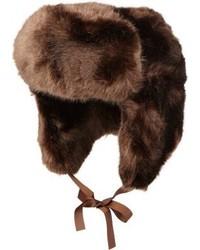 Chapeau de fourrure marron