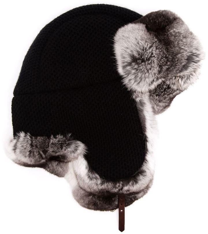 Chapeau de fourrure noir Inverni