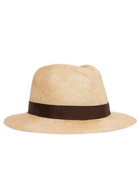 Chapeau de paille beige Anderson & Sheppard
