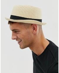 Chapeau de paille beige ASOS DESIGN