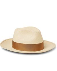 Chapeau de paille beige Borsalino