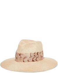 Chapeau de paille beige Eugenia Kim