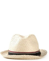 Chapeau de paille beige Giorgio Armani