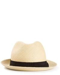 Chapeau de paille beige Lanvin