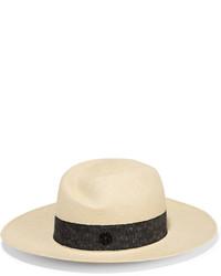 Chapeau de paille beige Maison Michel