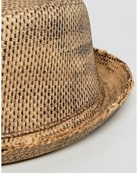 Chapeau de paille beige Asos