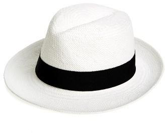 Chapeau de paille blanc et noir Halogen