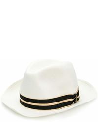 Chapeau de paille blanc Borsalino