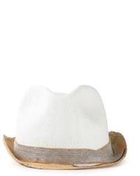 Chapeau de paille blanc Brunello Cucinelli