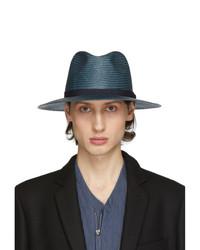 Chapeau de paille bleu marine Giorgio Armani