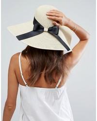 Chapeau de paille brun clair Asos