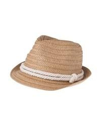Chapeau de paille brun clair Even&Odd