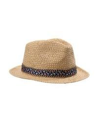 Chapeau de paille brun clair Only