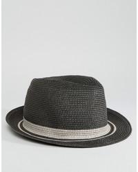 Chapeau de paille gris foncé Esprit