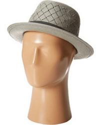 Chapeau de paille gris