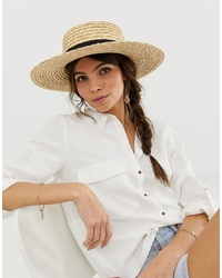 Chapeau de paille marron clair ASOS DESIGN
