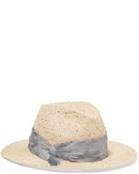 Chapeau de paille marron clair Eugenia Kim