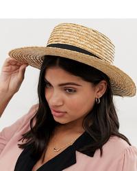 Chapeau de paille marron clair South Beach