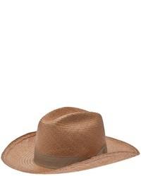 Chapeau de paille marron clair Stella Jean