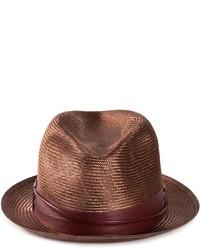 Chapeau de paille marron foncé