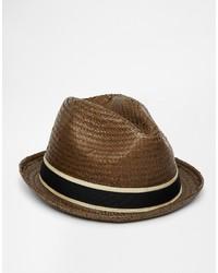 Chapeau de paille marron foncé Goorin Bros.