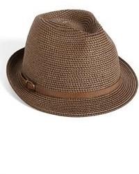 Chapeau de paille marron