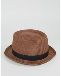 Chapeau de paille marron Asos