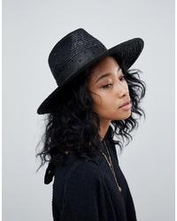 Chapeau de paille noir Brixton