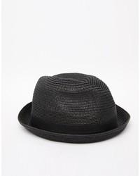 Chapeau de paille noir Diesel