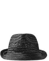 Chapeau de paille noir DSQUARED2