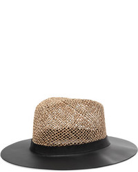 Chapeau de paille noir Eugenia Kim