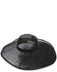 Chapeau de paille noir Isabel Benenato