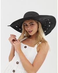 Chapeau de paille noir Miss Selfridge