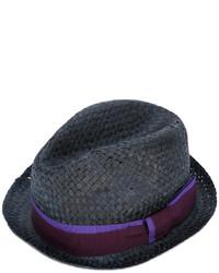 Chapeau de paille noir Paul Smith