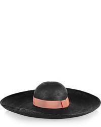 Chapeau de paille noir Sensi