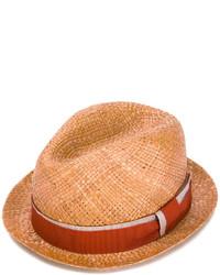 Chapeau de paille tabac Paul Smith