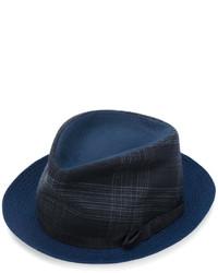 Chapeau écossais bleu marine Etro