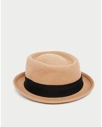Chapeau en laine beige Asos