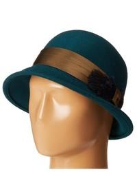 Chapeau en laine bleu canard