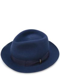 Chapeau en laine bleu marine Borsalino