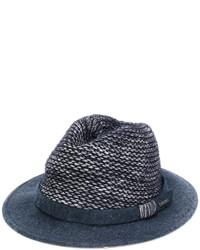 Chapeau en laine bleu marine Woolrich
